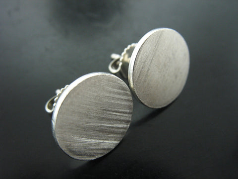 Matte Disk Earrings- Large