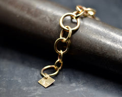 Mixed Link with Diamond Tag Bracelet #1