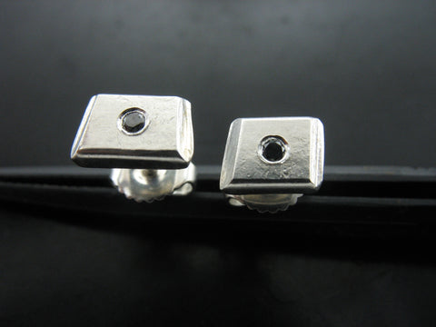 Number 50 Studs With Black Diamonds