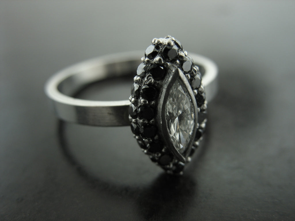Double Tone Royal Engagement Ring