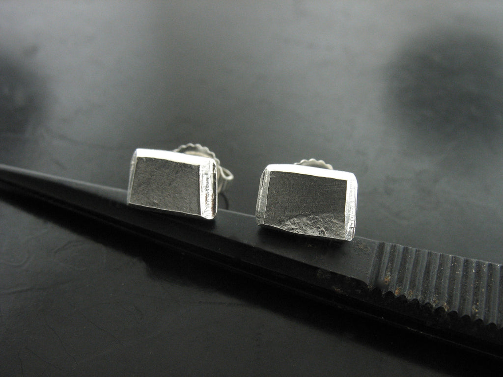 Number 50 Earrings- Rectangular