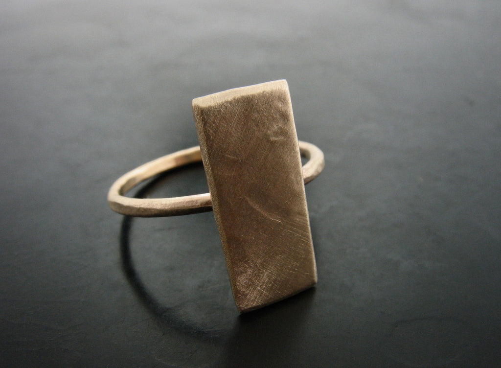 Yellow Gold Bar Ring