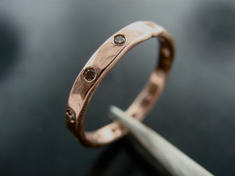 Morava Wedding Ring- Rose Gold & Chocolate Diamonds