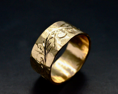 SHEILA'S RING YELLOW GOLD 10MM WIDE