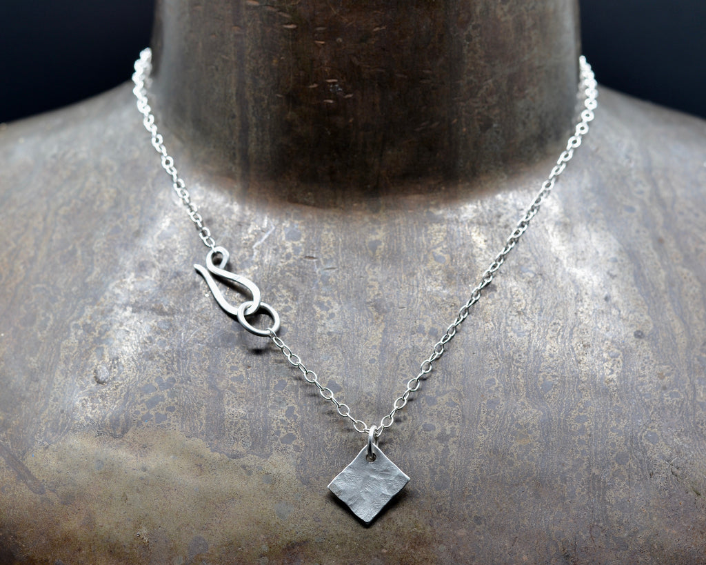 Diamond Tag Charm Necklace