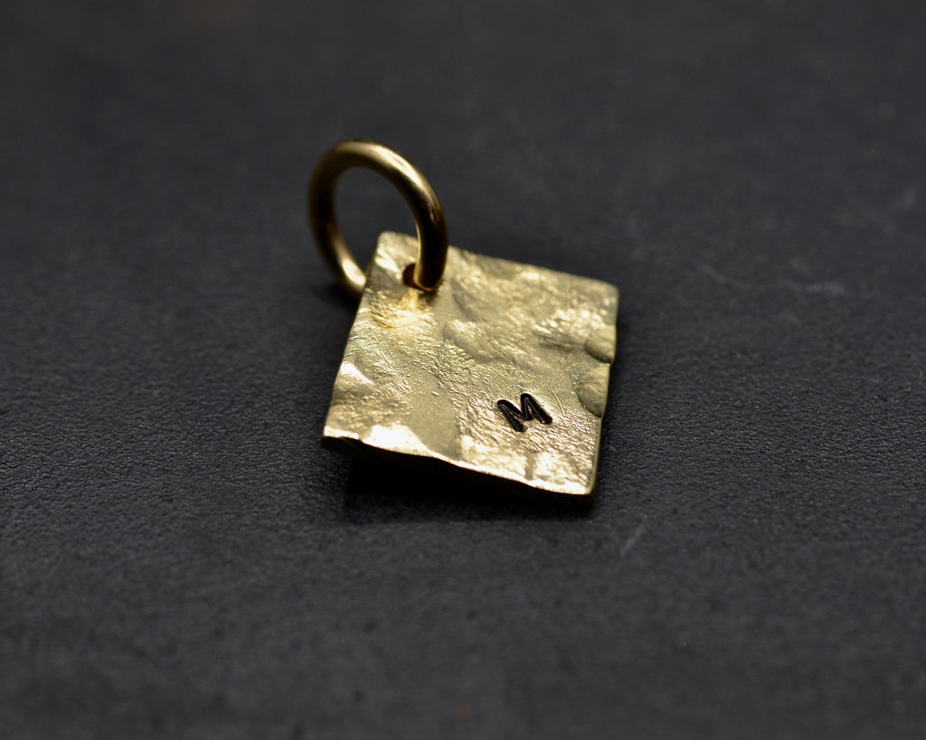 Hammered Square Charm