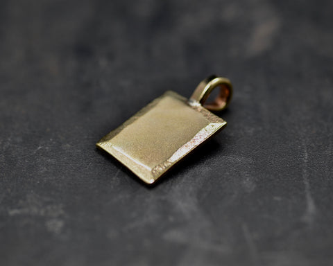 Beveled Rectangular Charm