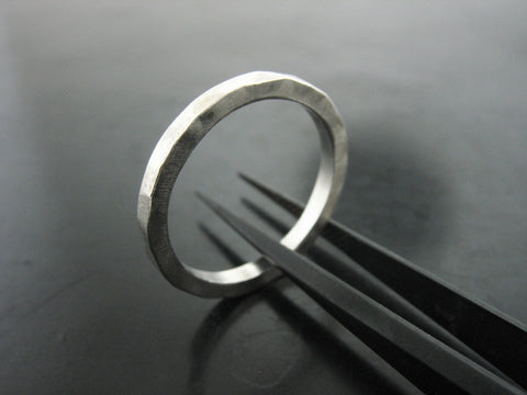 TT3 Stackable Lightly Textured Ring