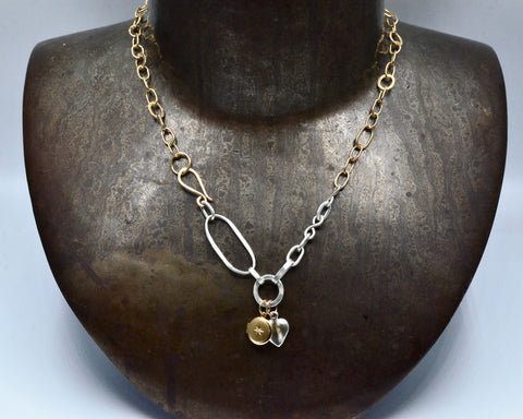 Tatum's Necklace- Yellow Gold & Sterling Silver
