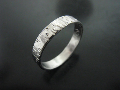 VICTOR'S RING PLATINUM 4 MM WIDE