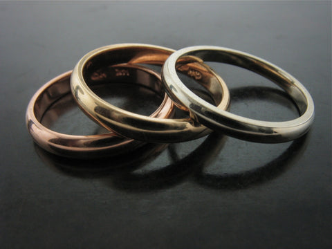 DANUBE TRI COLOR WEDDING RINGS