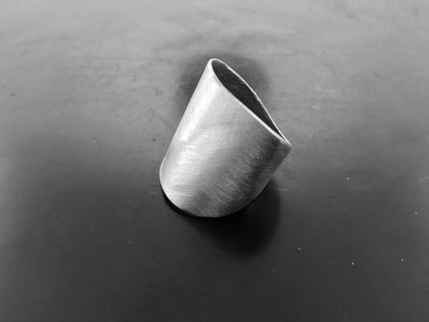 Wolf Ring- White Bronze
