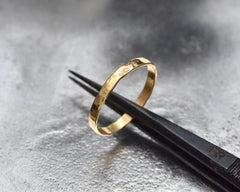 ZEUS RING YELLOW GOLD 2mm WIDE