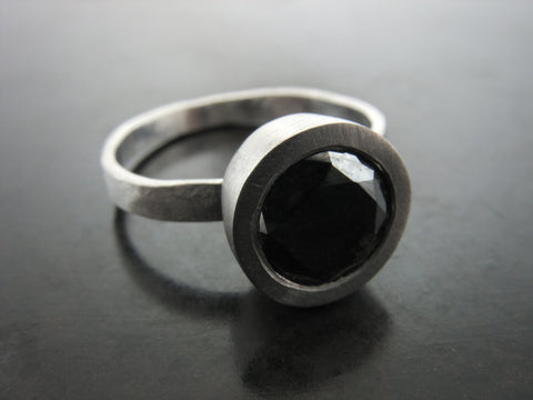 Chelsea's engagement ring Platinum and Black Diamond