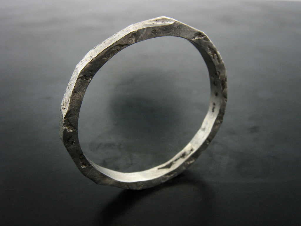 TT1 Stackable Textured Ring- Men's