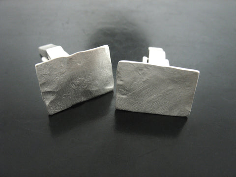 Hammered Shirt Cufflinks- Matte