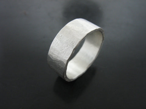 Zeus Sterling Silver  Ring - 7mm wide