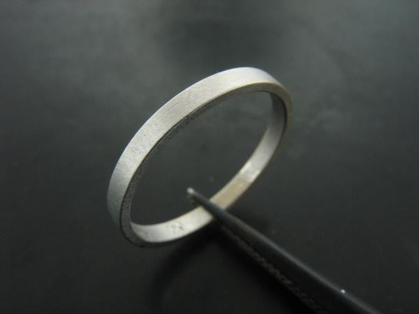 MIRIAM'S RING WHITE GOLD 2MM WIDE