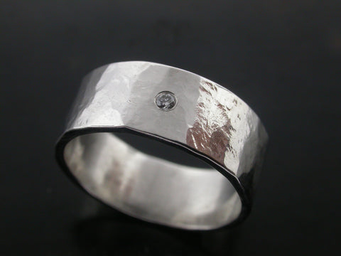 Zeus Wedding Ring- White Gold and White Diamond