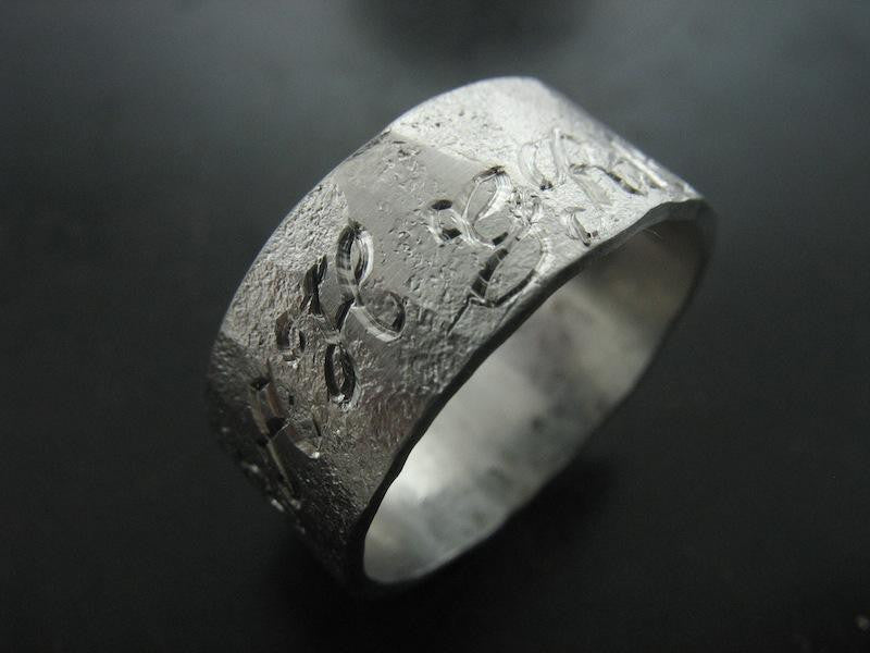 Tony's Wedding Ring , Platinum Engraved on Top