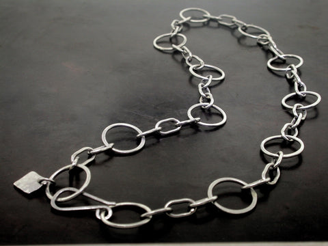 Marrisa's Necklace, Platinum Handmade Link