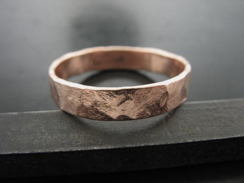 Zeus Ring - Rose Gold - 4mm