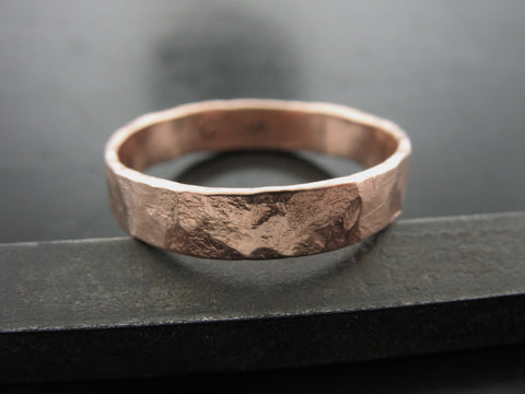 ZEUS RING ROSE GOLD 4mm WIDE