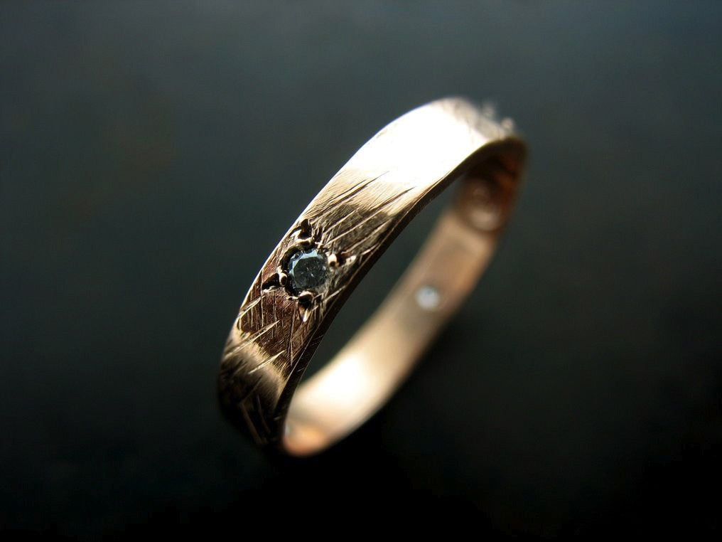 Sonya's Wedding Band, Rose Gold, White Diamond