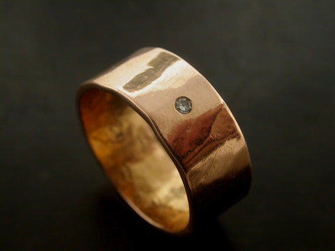 Sarah's Wedding Ring, Rose Gold, White Diamond