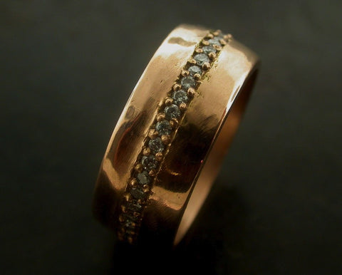 Desanka's Wedding Ring, Rose Gold, White Diamond