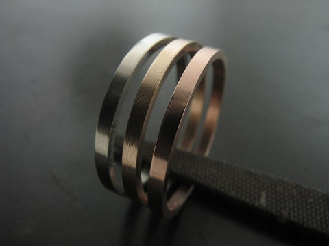 TRI COLOR STACKABLE WEDDING RINGS