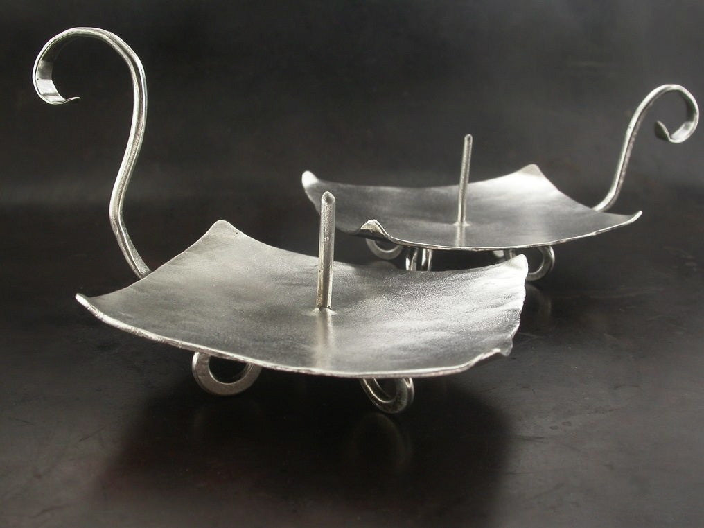 Candle Holders, Sterling Silver
