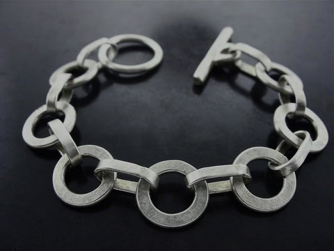 Monk And Sailor Links Hand Made Bracelet, Sterling Silver