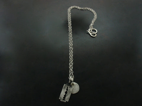 Razor and Tag Necklace