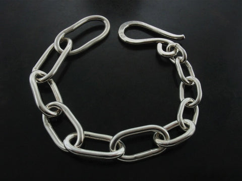 S To L Hand Made Bracelet, Sterling Silver