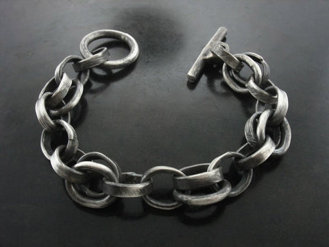 Sailor Meets Zeus Hand Made Bracelet, Sterling Silver
