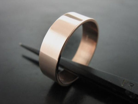 JIOU RING ROSE GOLD 5MM WIDE