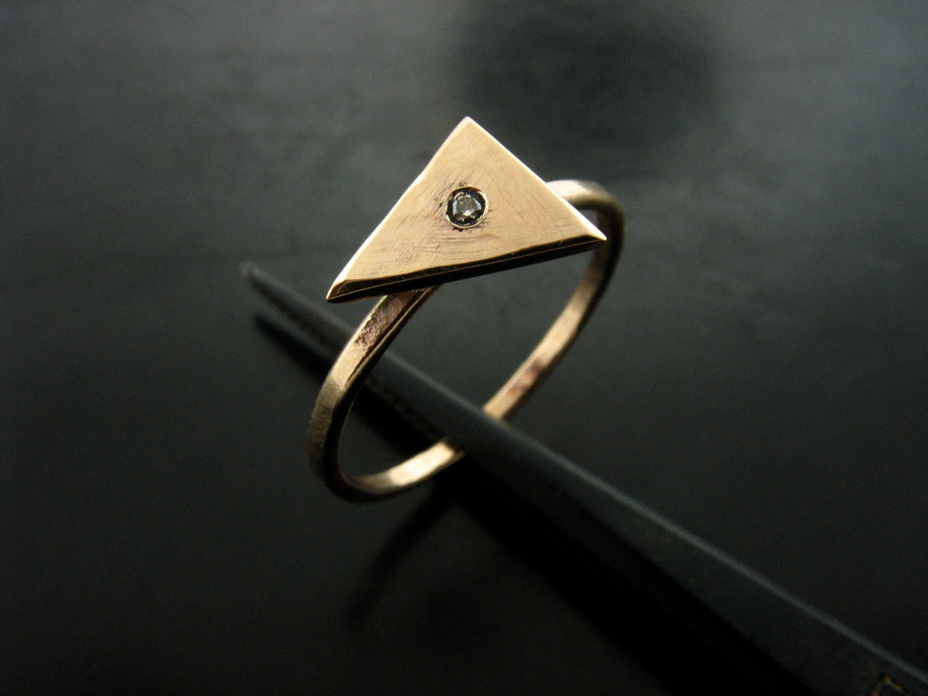Triangle Top and Diamond Ring
