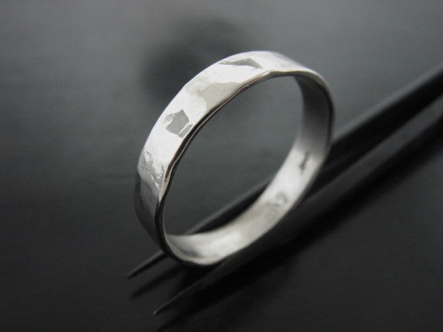 Zeus Hammered Ring - 5mm