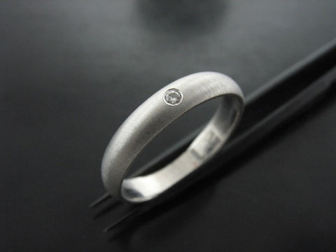 LOUIS'S  RING WHITE GOLD 3MM WIDE