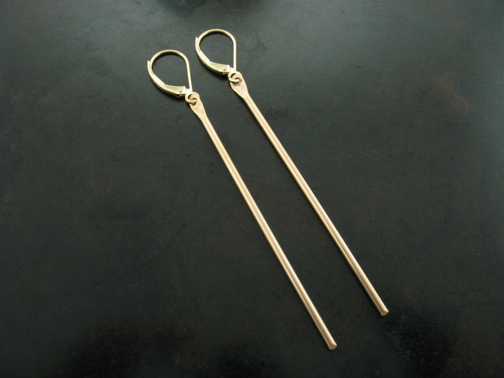 Number 80 Earrings Yellow Gold