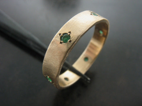 Maureen's Wedding Ring- YELLOW GOLD & EMERALDS