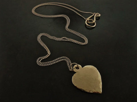 Heart Necklace, Yellow Gold