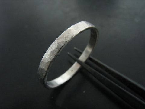 ZEUS NARROW RING - WHITE GOLD