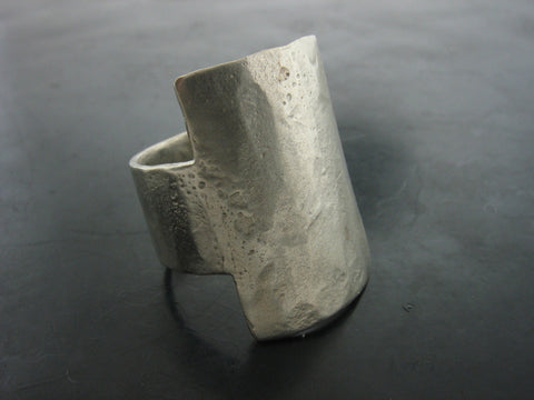 Zeus Square Sheet Ring- White Bronze