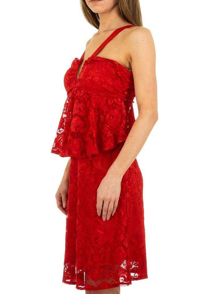 Robes dentelle bustier : rouge