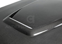Load image into Gallery viewer, 2015-2017 Ford Mustang GT350 STYLE Carbon Fiber Hood