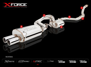 "Ford Falcon BA/BF XR6T XForce 2.5"" Cat-Back Exhaust System"