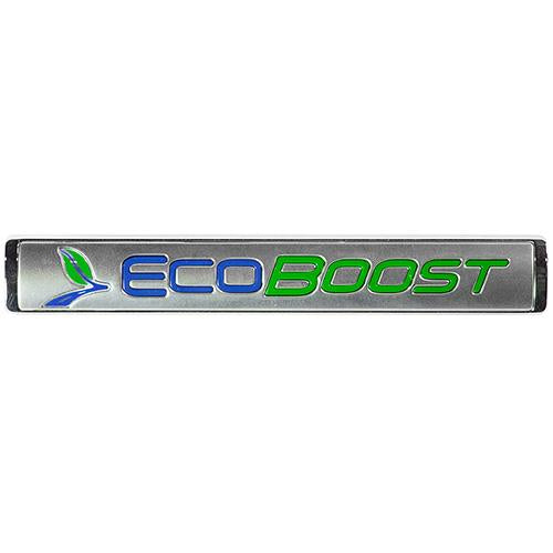 ECOBOOST EMBLEMS/BADGES-SILVER-PAIR
