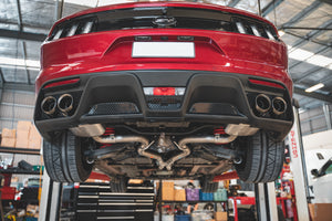 2015-2017 Mustang 5.0L cat-back touring exhaust system with GT350 tips & lower valance
